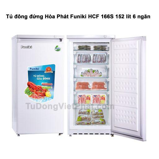Tủ đông đứng Hòa Phát Funiki HCF 166S 152 lít 6 ngăn