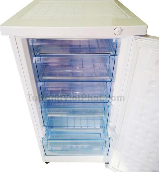 Bên trong Tủ đông đứng Hòa Phát Funiki HCF 166S 152 lít
