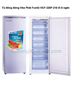 Tủ đông đứng Hòa Phát Funiki HCF 220P 216L 8 ngăn