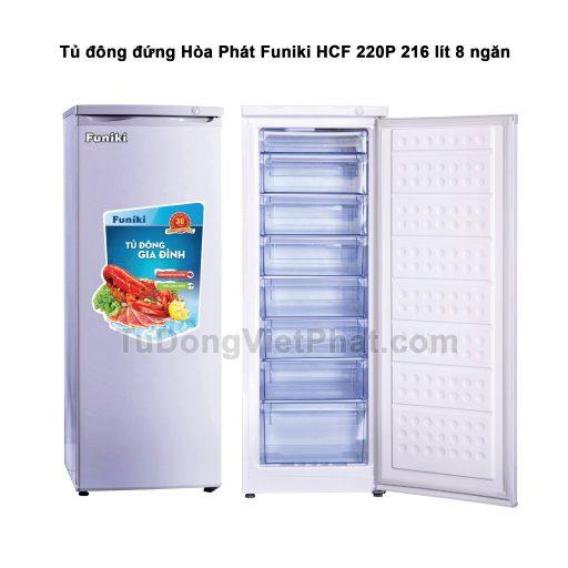 Tủ đông đứng Hòa Phát Funiki HCF 220P 216 lít 8 ngăn