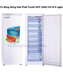 Tủ đông đứng Hòa Phát Funiki HCF 220S 216 lít 8 ngăn