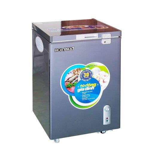 Tủ đông mini Hòa Phát HCF 106S1ĐSH 100L dàn đồng màu xanh