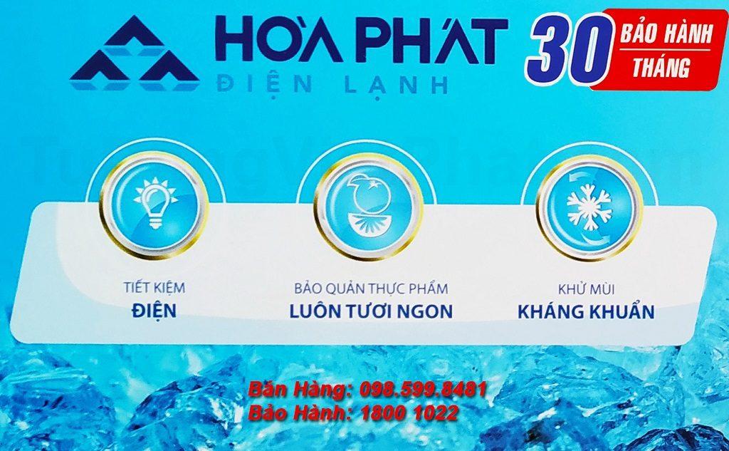 Tủ đông Hòa Phát 245l HCF 606S2N2 bảo hành 30 tháng