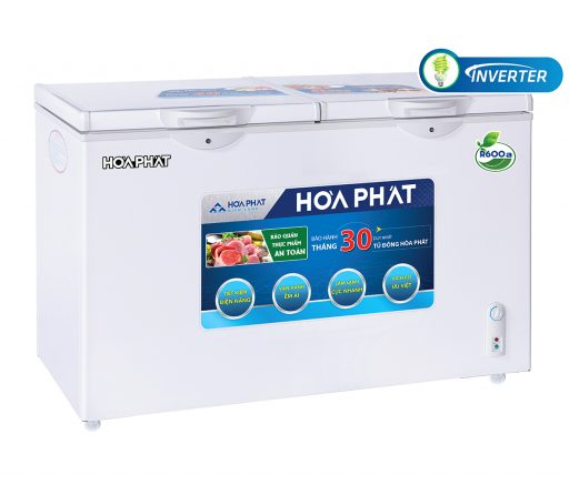 Tủ đông Hòa Phát 205L Inverter HCFI 506S2Đ2, tủ mini 2 ngăn