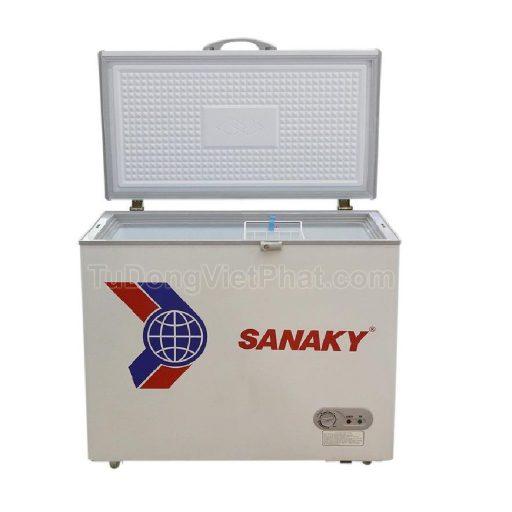 Mặt trước tủ đông mini 175L Sanaky VH-225HY2, 1 ngăn đông 1 cánh
