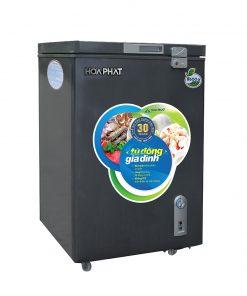 Tủ đông mini 100L dàn đồng Hòa Phát HCF 106S1ĐSH màu xanh