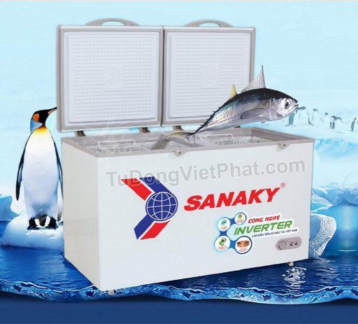 Tủ đông Sanaky INVERTER VH-3699W3, 270L 2 ngăn đông mát