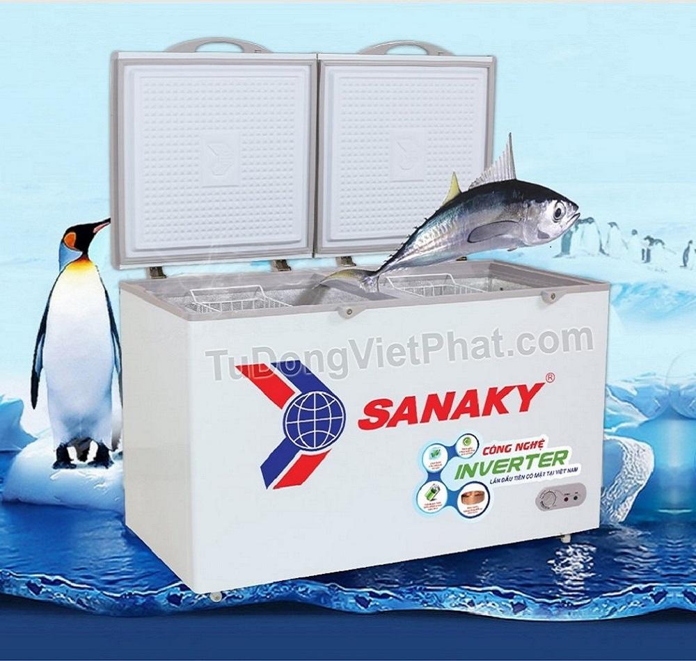 Tủ đông Sanaky INVERTER VH-4099W3, 300L 2 ngăn đông mát