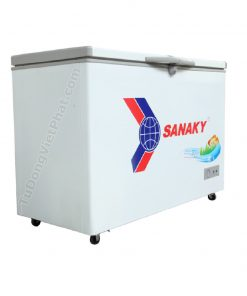 Mặt cạnh tủ đông Sanaky VH-2899A1, 235L 1 ngăn đông dàn đồng