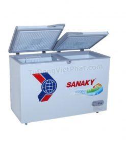 Mặt trên tủ đông Sanaky VH-2899A1, 235L 1 ngăn đông dàn đồng