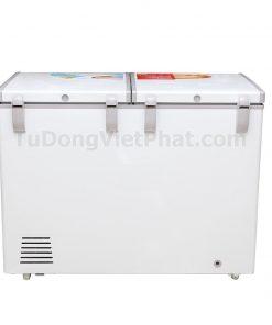 Mặt sau tủ đông Sanaky VH-2899A1, 235L 1 ngăn đông dàn đồng