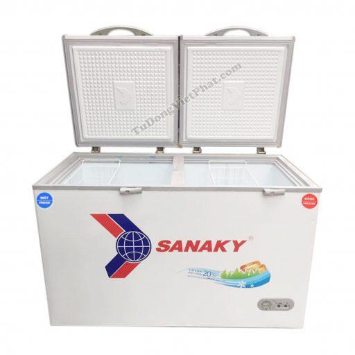 Tủ đông Sanaky VH-3699W1, 260L 2 ngăn đông mát dàn đồng