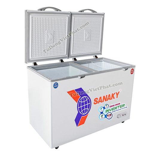 Tủ đông Sanaky VH-3699W3, 270L INVERTER 2 ngăn đông mát