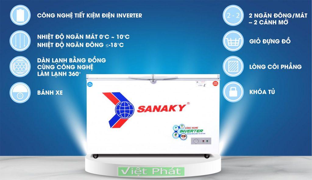 Tính năng của tủ đông Sanaky VH-4099W3