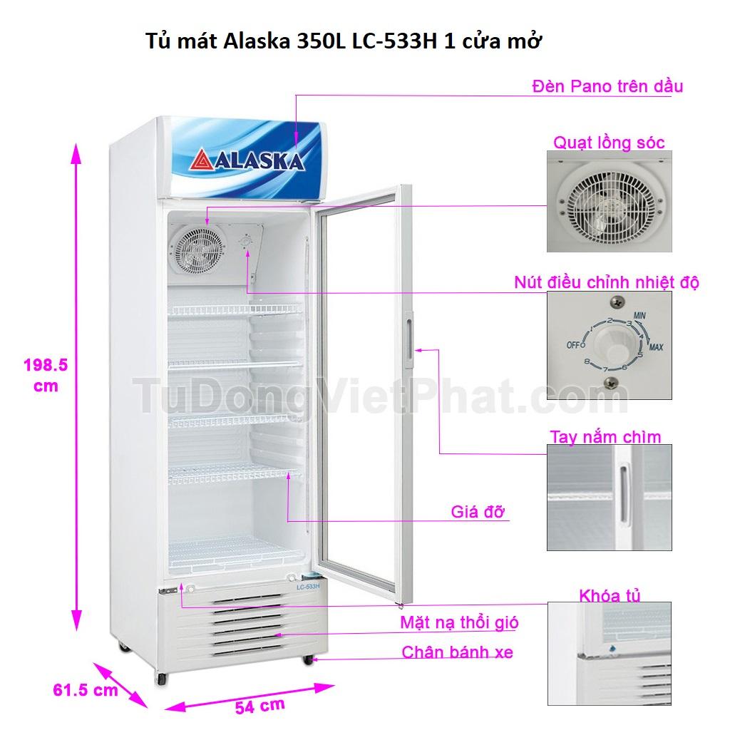 Tủ mát Alaska 350L LC-533H 1 cửa mở Chính hãng Giá rẻ nhất T12/2020