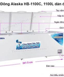Kích thước tủ đông Alaska HB-1100C