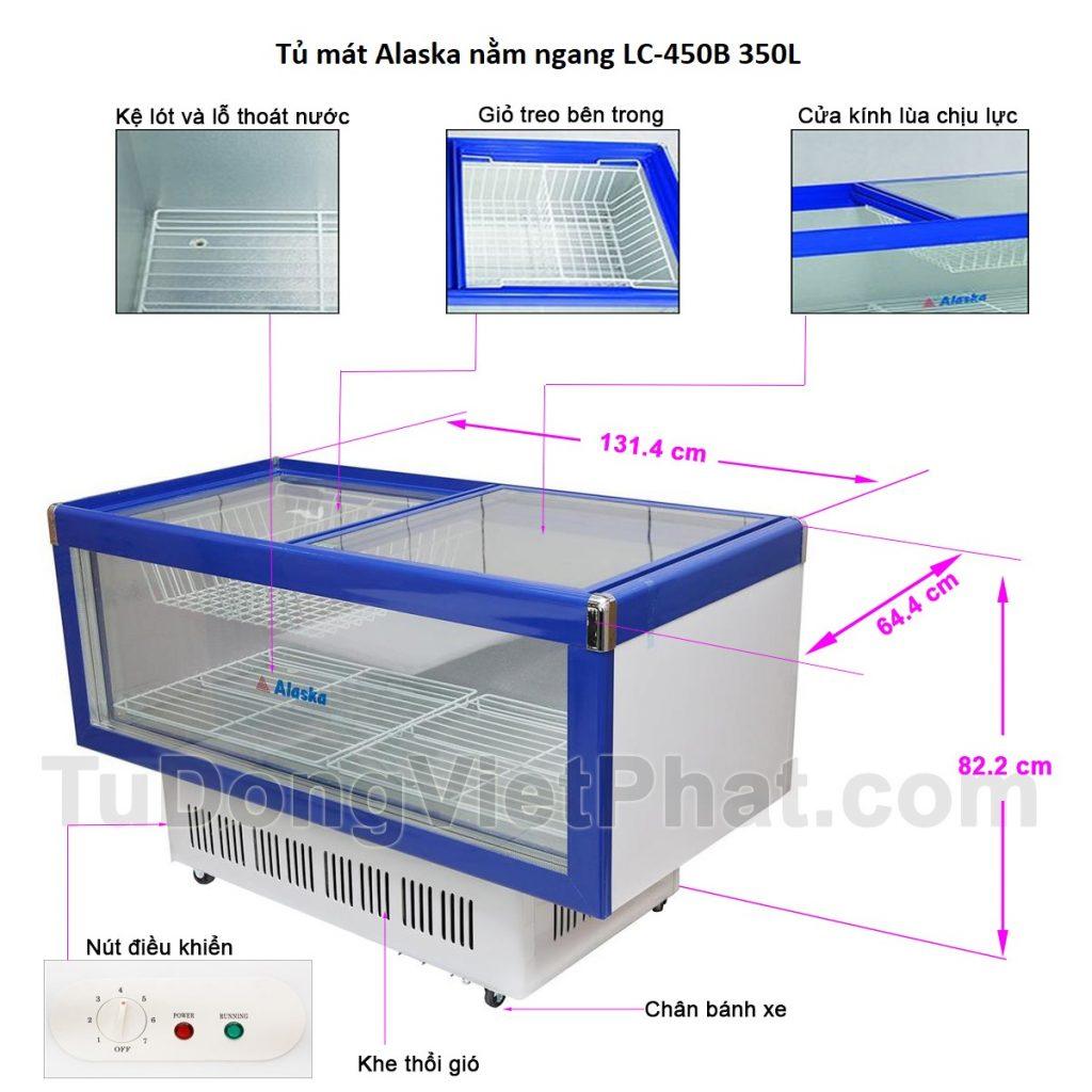 Các bộ phận tủ mát Alaska nằm ngang LC-450B 350L