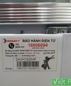 Tem Bảo hành tủ Mát Sanaky VH-1520HP