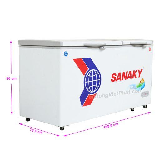 Tủ đông Sanaky VH-6699W1 485 lít 2 ngăn đông mát dàn đồng