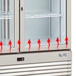 Hệ thống sấy kính bằng khí nóng của tủ mát Alaska SL-8C