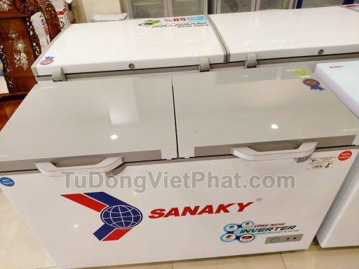 Mặt kình cường lực của tủ đông Sanaky INVERTER VH-4099W4K mặt kính cường lực
