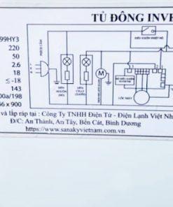 Tem kỹ thuật tủ đông Sanaky VH-1399HY3