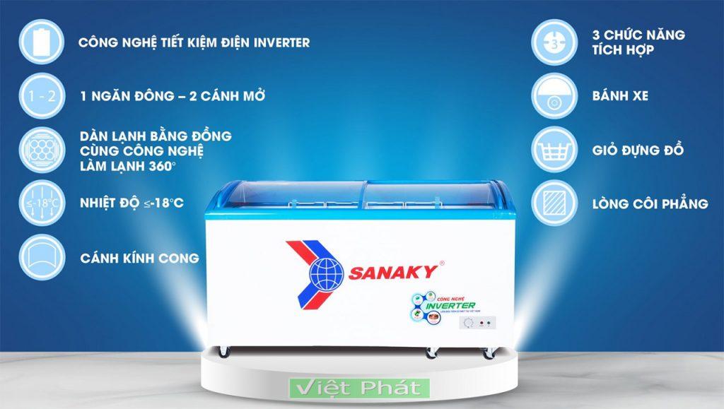 Tính năng của tủ đông Sanaky VH-6899K3