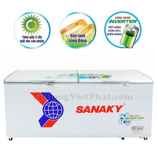 Tủ đông Sanaky VH-8699HY3, 760L INVERTER 1 ngăn đông