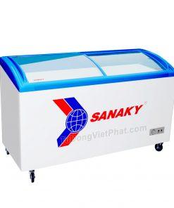 Tủ đông Sanaky VH-2899K, cánh kính cong 210 lít dàn đồng