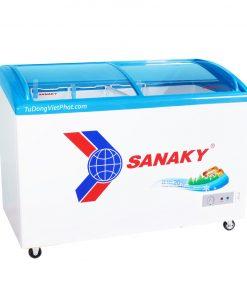 Tủ đông Sanaky VH-3899K, mặt kính cong 260 lít dàn đồng