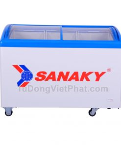 Tủ đông Sanaky VH-482K, cánh kính cong 340 lít