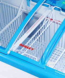 Tủ đông Sanaky VH-4899K, mặt kính cong 340 lít dàn đồng
