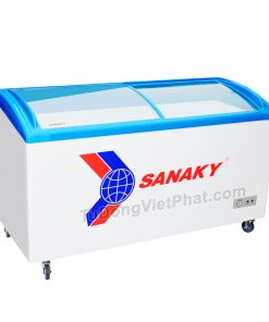 Tủ đông Sanaky VH-5899K, cánh kính cong 400 lít dàn đồng