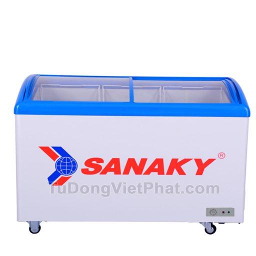 Tủ đông Sanaky VH-6899K, cánh kính cong 450 lít dàn đồng