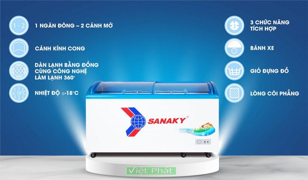 Tinh năng của tủ đông Sanaky VH-6899K