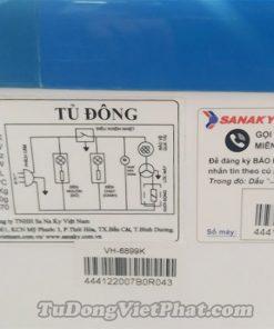 Tủ đông Sanaky VH-6899K, mặt kính cong 450 lít dàn đồng
