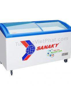 Tủ đông Sanaky VH-6899K3, cánh kính cong 450 lít Inverter dàn đồng