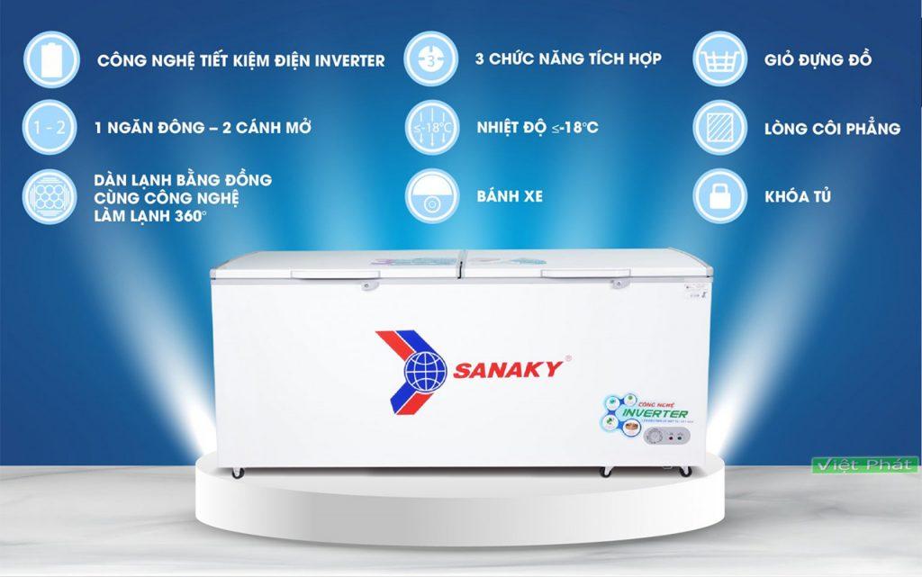 Tính năng tủ đông SanakyVH-8699HY3 Inverter 761 lít