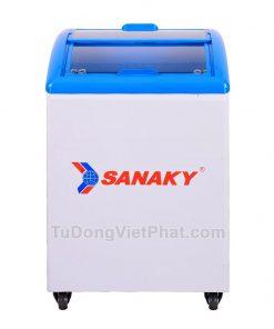 Tủ đông Sanaky VH-182K, cánh kính cong 140 lít
