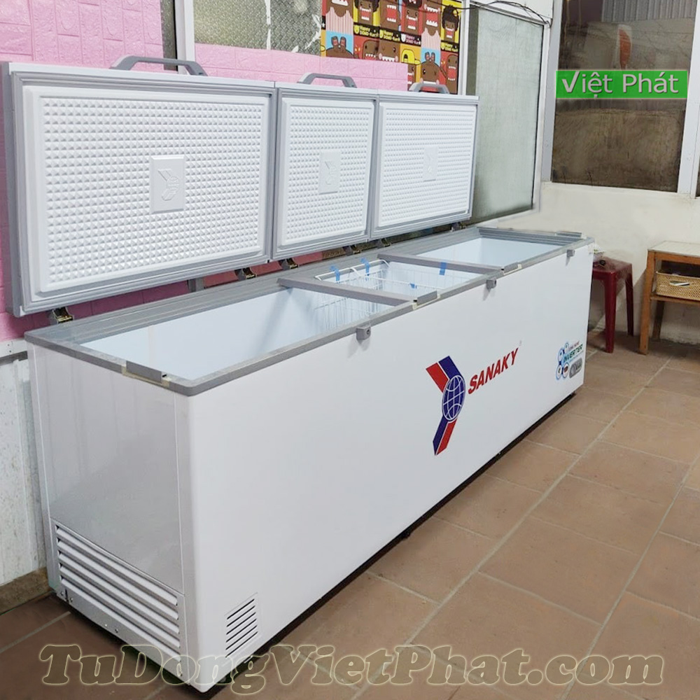Tủ đông SanakyInverter 900 lít VH-1199HY3, 3 cánh