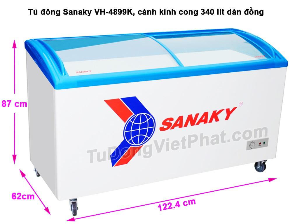 Kích thước tủ đông Sanaky VH-4899K