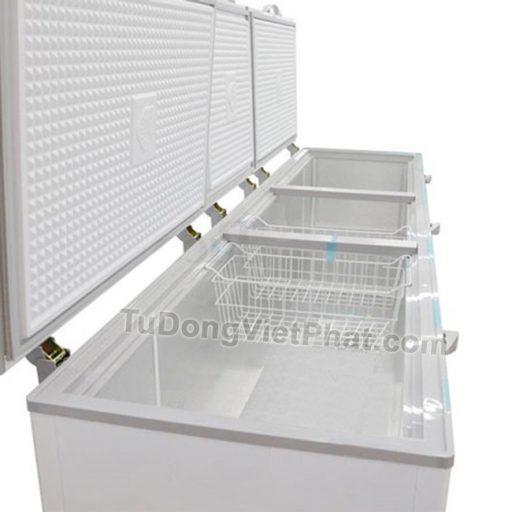 Bên trong tủ đông Sanaky INVERTER VH-1199HY3, 900L 1 ngăn đông