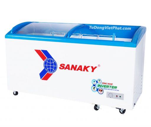 Tủ đông Sanaky VH-6899K3, mặt kính cong 450 lít Inverter
