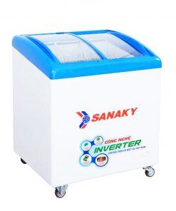 Tủ đông Sanaky VH-2899K3, mặt kính cong 210 lít Inverter