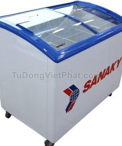 Tủ đông Sanaky VH-382K, cánh kính cong 260 lít
