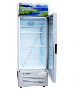 Bên trong tủ mát Sanaky VH-358K3 290 lít Inverter