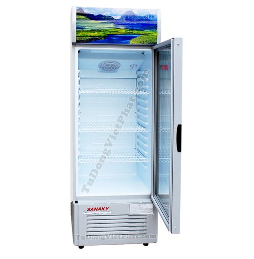 Bên trong tủ mát Sanaky VH-258K3, 200 lít Inverter