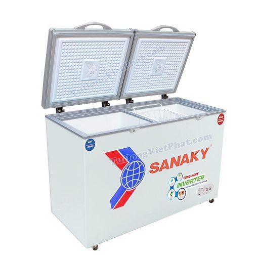 Tủ đông Sanaky VH-2599W3, Inverter 2 ngăn mini 200L