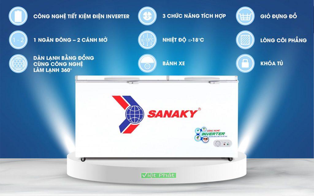 Tinh năng của tủ đông Sanaky VH-6699HY3 Inverter