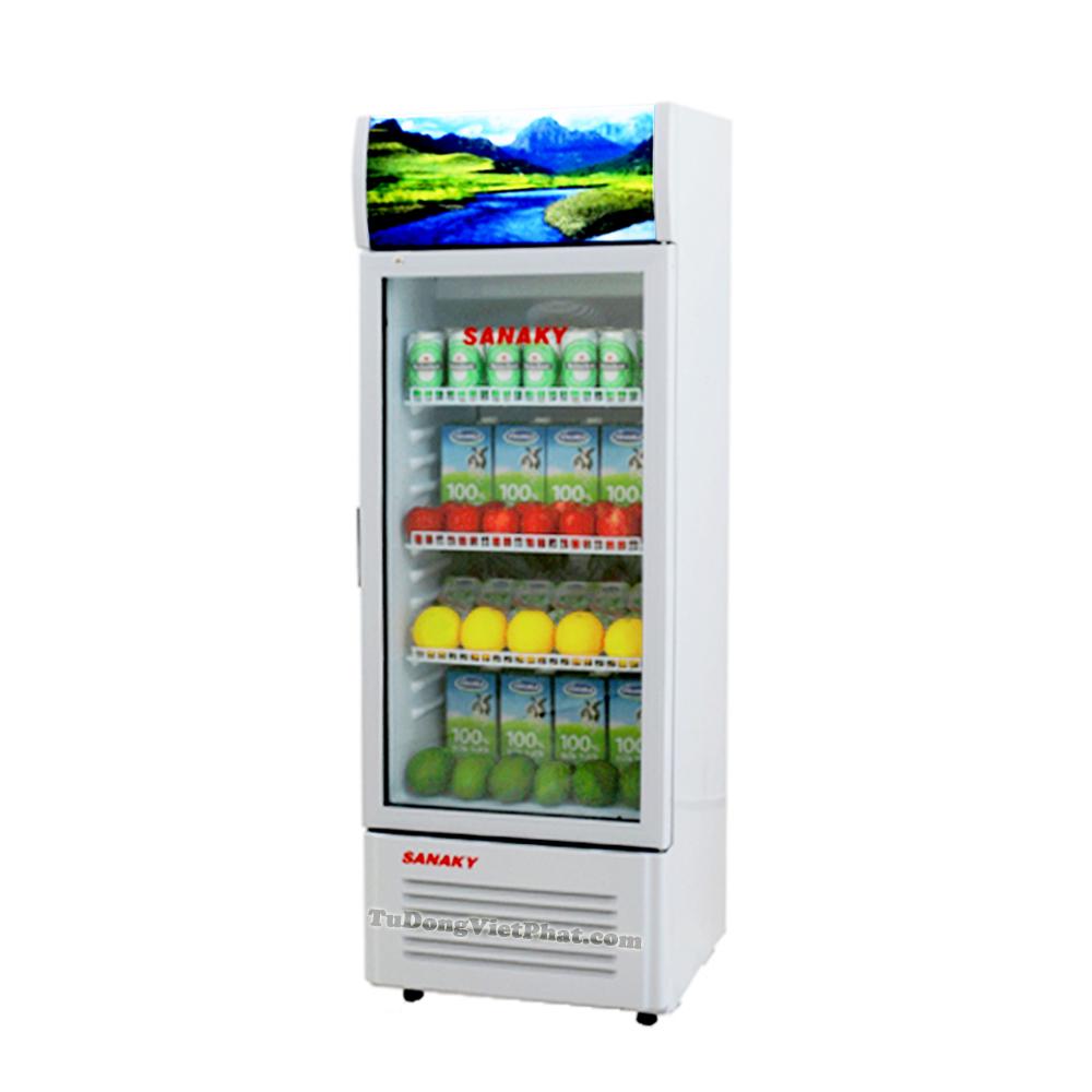 Sắp xếp đồ bên trong tủ mát Sanaky VH-308K